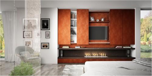 Home theater planejado moderno